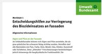 UBA Merkblätter DE